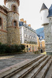 European style castle in warm winter afternoon Stock Photo