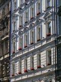 European style classic exterior facade architecture design in Pr Stock Photography