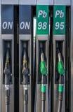 European style gasoline pumps Royalty Free Stock Photo