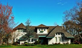 European-style home. In a residential neighborhood Royalty Free Stock Photography