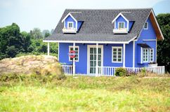 European style house in the garden Stock Images
