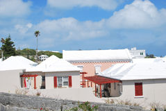 European style houses. In Bermuda Royalty Free Stock Photography