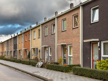 European Style Terrace Houses. Modern Terra Colored Middle Class Terraced Houses in Europe Stock Photos