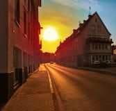European suburban street Royalty Free Stock Image
