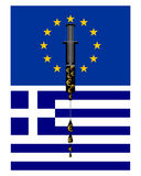European support for Greece. Detailed and colorful illustration of european support for Greece Royalty Free Stock Image