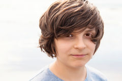 European surfer boy with a haircut Stock Image