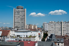 European tower and panoramic of Mulhouse Stock Photos
