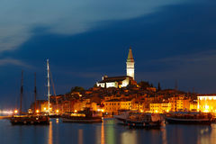 European town at adriatic sea Royalty Free Stock Images