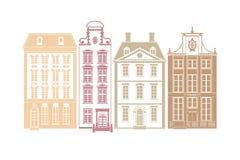 European Town Houses Stock Image