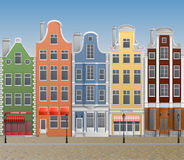 European town. Illustration of old european town, with historical buildings
