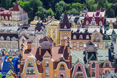 European town panorama. Colorful roofs Royalty Free Stock Photo