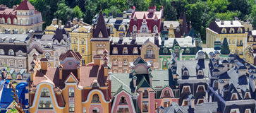 European town panorama. Colorful roofs Stock Image