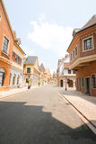 European town street in the morning Royalty Free Stock Images