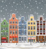 European town at winter Royalty Free Stock Photos
