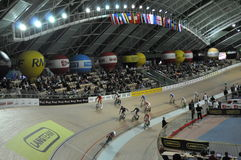 European Track Championships. First edition of European Track Championships for elite riders at the velodrome in Pruszkow. The event was been first qualification Royalty Free Stock Photo