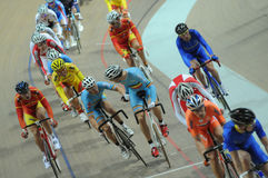 European Track Championships. Cyclists during the first edition of European Track Championships for elite riders at the velodrome in Pruszkow. The event was been Royalty Free Stock Photos