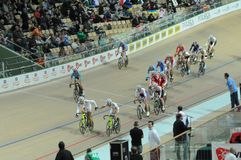 European Track Championships. First edition of European Track Championships for elite riders at the velodrome in Pruszkow. The event was been first qualification Royalty Free Stock Image