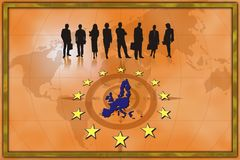 European trade background euro Royalty Free Stock Photo