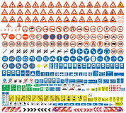 European traffic signs collection