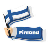 European travel flags. Flag of Finland icon, vector travel flags of europe series Stock Photos