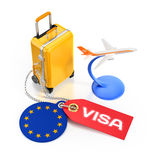 European Travel Visa Concept Stock Images