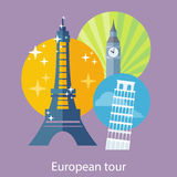 European Traveling Tour Royalty Free Stock Image
