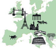 European travelling Royalty Free Stock Image