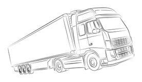 European truck illustration. Digital drawed european truck illustration Stock Photo