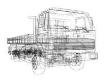 European truck outlined vector Royalty Free Stock Images