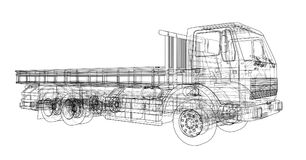 European truck outlined vector Royalty Free Stock Photography