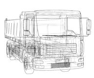 European truck outlined vector Royalty Free Stock Photos