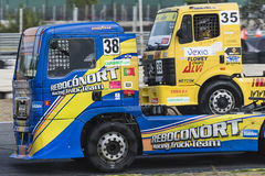 2014 European Truck Racing Championship Royalty Free Stock Images