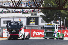 2014 European Truck Racing Championship Royalty Free Stock Photo