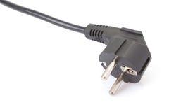 European two pin power plug Royalty Free Stock Photos