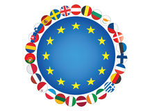 European Union. Flags vector illustration Royalty Free Stock Photography