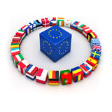 European union. Abstract demonstration of greece as member of the european union Royalty Free Stock Photo
