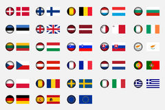 European Union. Flags of the 27 members of the European Union Royalty Free Stock Photo
