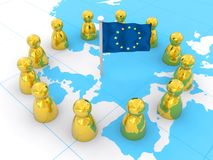 European Union. Colorful European Union rendered illustration Royalty Free Stock Images