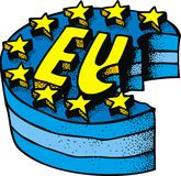 European union as crisis symbol. As future problem Royalty Free Stock Images