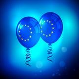 European Union Balloons Illustration Wallpaper. Stock Photography