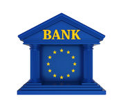 European Union Bank Building Isolated. On white background. 3D render Stock Photos