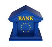 European Union Bank Building Isolated. On white background. 3D render Stock Images
