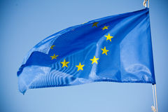 European Union blue flag Stock Image