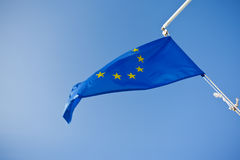 European Union blue flag Royalty Free Stock Images