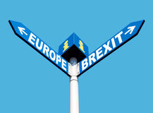 European Union and Brexit road signs Stock Images