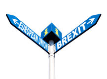 European Union and Brexit road signs Royalty Free Stock Images