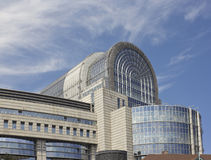 European Union building in Brussels, belgium. Brussels, Belgium - July 24, 2014: Fragment of European Union building Royalty Free Stock Image