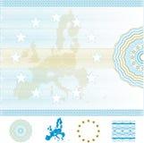 European Union Certificate. Vector Image Royalty Free Stock Photos
