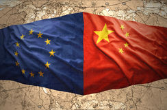 European Union and China Royalty Free Stock Image