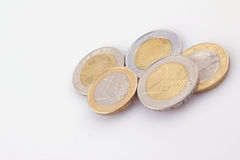 European Union coins Royalty Free Stock Photos